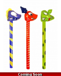Image of 12 x Inflatable Dinosaur Sticks