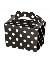 50 x Black Polka Dot Food Boxes