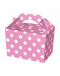 50 x Pink Polka Dot Food Boxes