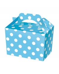 50 x Blue Polka Dot Food Boxes