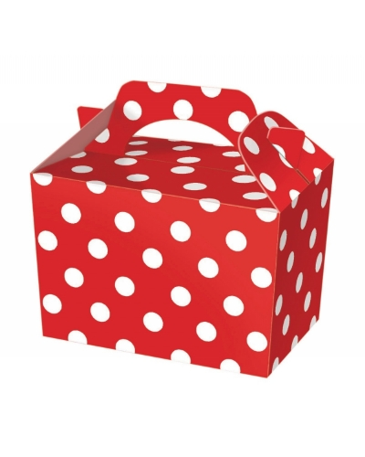 50 x Red Polka Dot Food Boxes