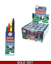 Image of 100 x Wax Christmas Crayons 4pk