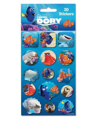 12 x Finding Dory 3d Sticker Sheets