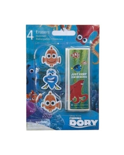24 x Finding Dory 4pc Eraser Sets