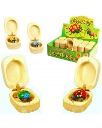 Image of 36 x Wooden Jitterbugs