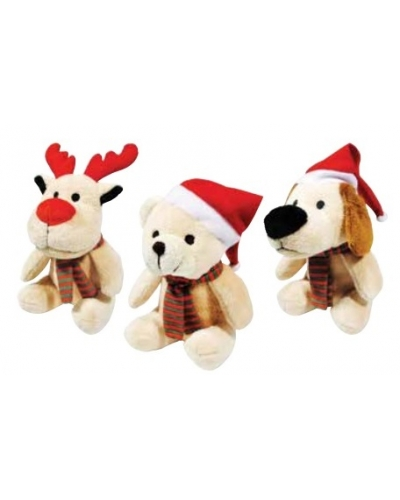 Wrapped Grotto Toys - 13cm Plush Christmas Friends x12