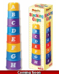 Image of Wrapped Grotto Toys - Stack A Cup x 6