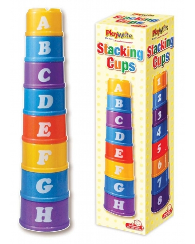 Wrapped Grotto Toys - Stack A Cup x 6