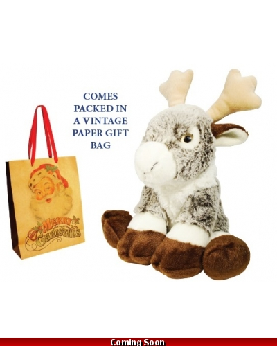 Wrapped Grotto Toys - Plush Rodney Reindeer x 6