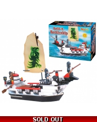 Image of Wrapped Grotto Toys - Battle Boat Building Blocks x 6