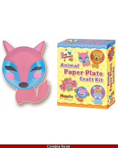 Wrapped Grotto Toys - Paper Plate Animal Craft Kit x 6