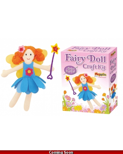 Wrapped Grotto Toys - Fairy Doll Craft Kits x 6