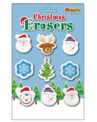 Image of 12 x Christmas Eraser Sets