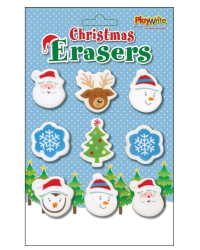 12 x Christmas Eraser Sets