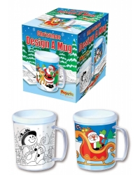 Image of Wrapped Grotto Toys - Christmas Colour In Mug x 12