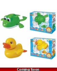 Image of Wrapped Grotto Toys - Clockwork Bath Duck & Frog x 6