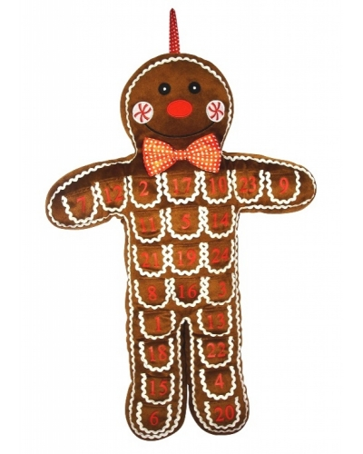 3 x Gingerbread Man Advent Calendar 65cm