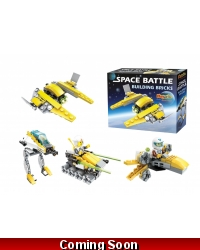 Image of Wrapped Grotto Toys - Space Battle Building Blocks x 6