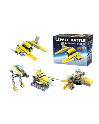 Wrapped Grotto Toys - Space Battle Building Blocks x 6