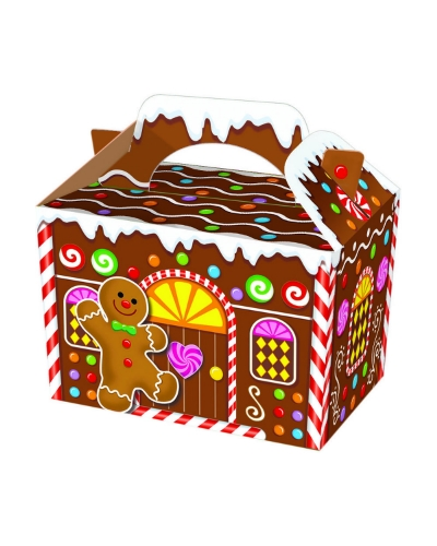 50 x Gingerbread House Food Boxes