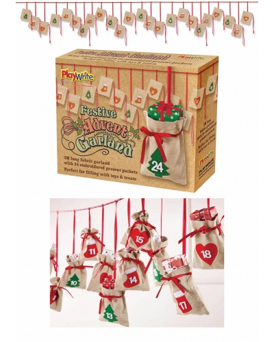 1 x Advent Calendar Christmas Bunting