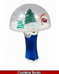 Image of 6 x Light Up Musical Christmas Dome Spinners
