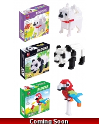 Image of Wrapped Grotto Toys - Animal Building Bricks