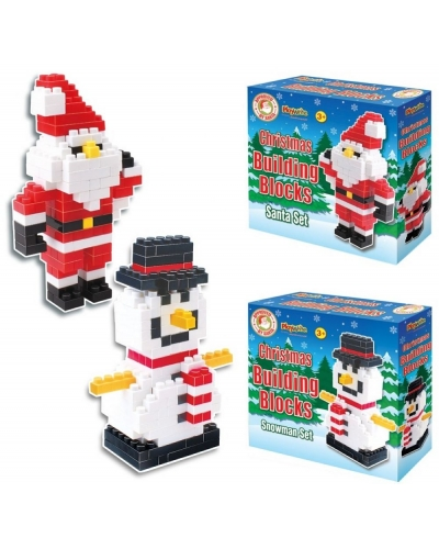 Wrapped Grotto Toys - Christmas Building Bricks x 6