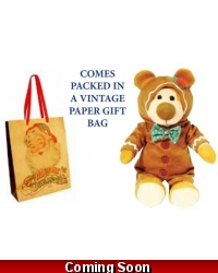 Image of Wrapped Grotto Toys - George The Gingerbread Teddy Bear x 6