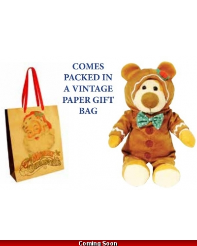 Wrapped Grotto Toys - George The Gingerbread Teddy Bear x 6