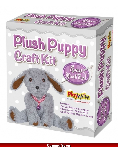 Wrapped Grotto Toys - Make Your Own Plush Puppy Dog x6