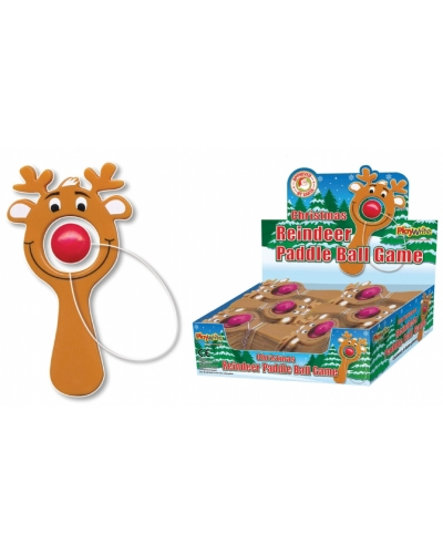 48 x Rudolph Reindeer Paddle Ball Games