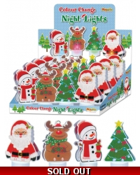 Image of 16 x Colour Changing Christmas LED Night Lights