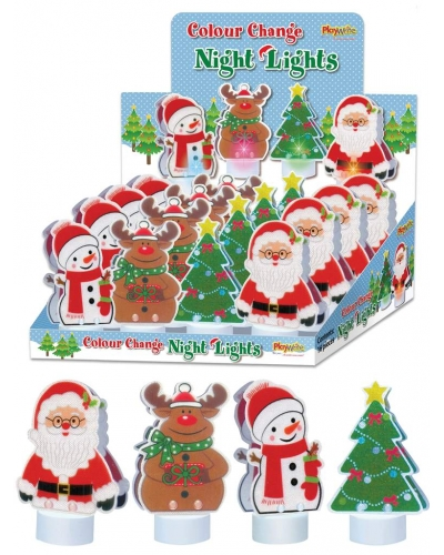 16 x Colour Changing Christmas LED Night Lights