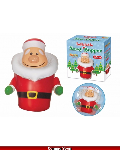 6 x Inflatable Santa Boppers