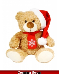 Image of 6 x Plush Bailey Christmas Bears 26cm