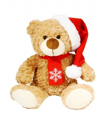 6 x Plush Bailey Christmas Bears 26cm