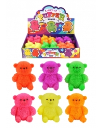 Image of 12 x Light Up Stretchy Puffer Teddy Bears