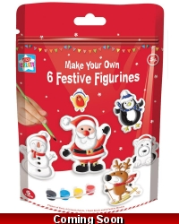 Image of 12 x Make And Paint Your Own Christmas Figurines