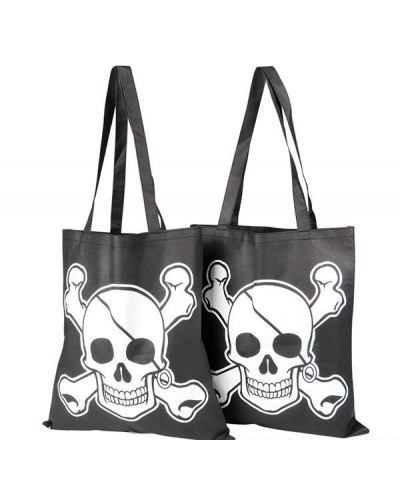 12 x Pirate Canvas Tote Bags