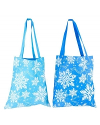 Image of 12 x Snowflake Canvas Tote Bags