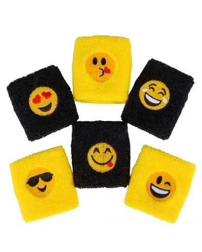 12 x Emoji Sweat Bands