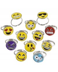 Image of 36 x Metal Emoji Rings