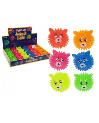 24 x Flashing Animal Head Spikey Balls