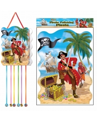 Image of 12 x Pirate Pull String Pinatas