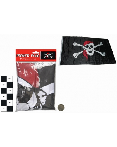12 x Large Pirate Flags 5'x3'