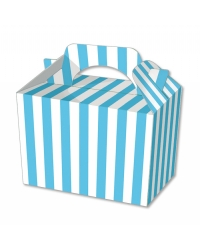 Image of 50 x Blue Stripe Food Boxes