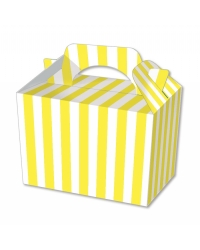 Image of 50 x Yellow Stripe Food Boxes
