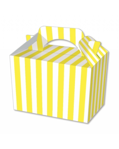 50 x Yellow Stripe Food Boxes