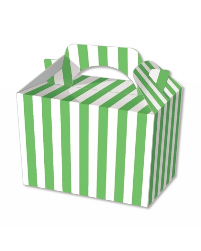 50 x Green Stripe Food Boxes